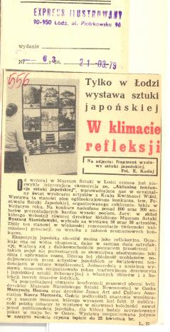 Tylko w Łodzi wystawa sztuki japońskiej. W klimacie refleksji