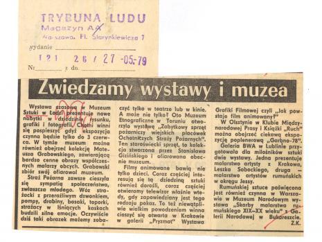 Wystawa czasowa Muzeum Sztuki w Łodzi prezentuje nowe nabytki w dziedzinie rysunku, grafiki i fotografii. [...]