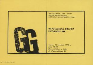 [Zaproszenie] Współczesna grafika Estońskiej SRR [...]