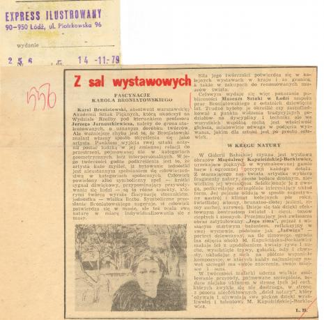 Fascynacje Karola Broniatowskiego