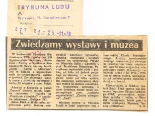 W krakowskim Pawilonie Wystawowym BWA [...]