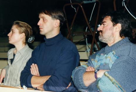 Od lewej x, Dariusz Bugalski, Andrzej Szewczyk
