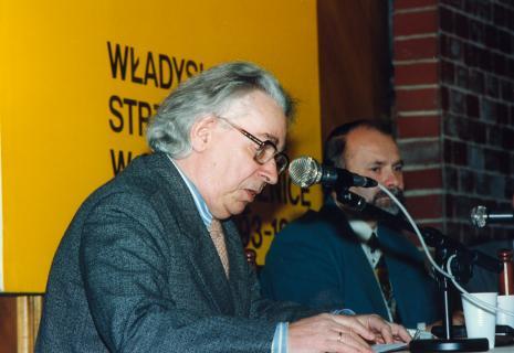 Artyści, wykładowcy PWSSP w Łodzi Stanisław Fijałkowski, Grzegorz Sztabiński