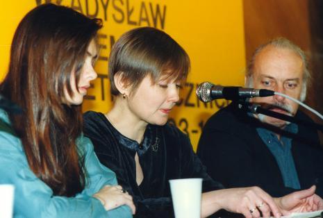 Od lewej tłumaczka, Olga Szichiriewa z Sankt – Petersburga, prof. Andrzej Turowski (Uniwersytet w Djon)