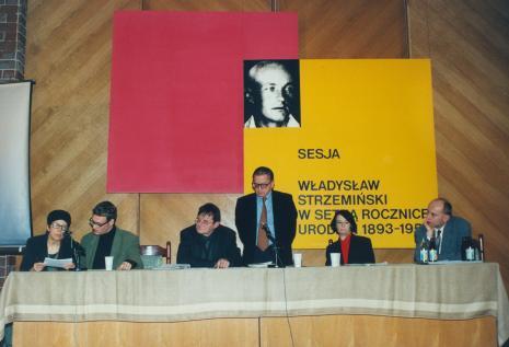 Od lewej M. Talikowska-Musiałowa (tłumaczka), dr Daniel Spanke, dr Mariusz Tchorek, Ryszard Stanisławski, Urszula Czartoryska (Dział Fotografii i Technik Wizualnych), dyr. Jaromir Jedliński (ms)
