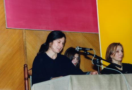 Od lewej dr Wanda Kepm-Welch, tłumaczka, dr Tatiana Bielajewa z Sankt Petersburga