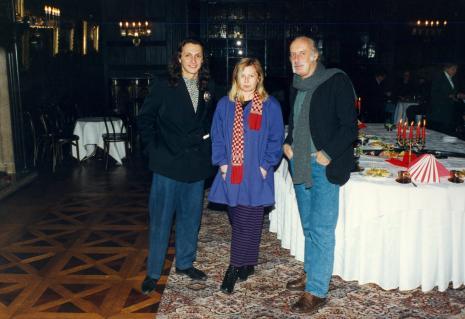 Pierre Bernier (Kanada), Maria Morzuch (Dział Sztuki Nowoczesnej), prof. Andrzej Turowski (Uniwersytet w Djon)