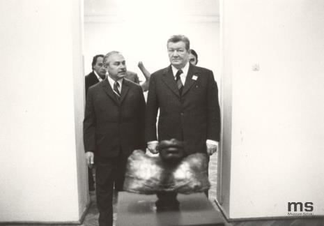 Ryszard Brudzyński (wicedyrektor ms) i Lucjan Motyka (kierownik Wydziału Kultury KC PZPR)