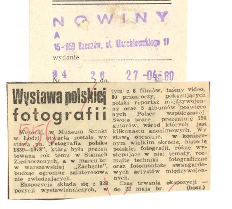Wystawa polskiej fotografii
