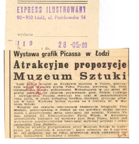 Wystawa grafik Picassa w Łodzi. Atrakcyjne propozycje Muzeum Sztuki