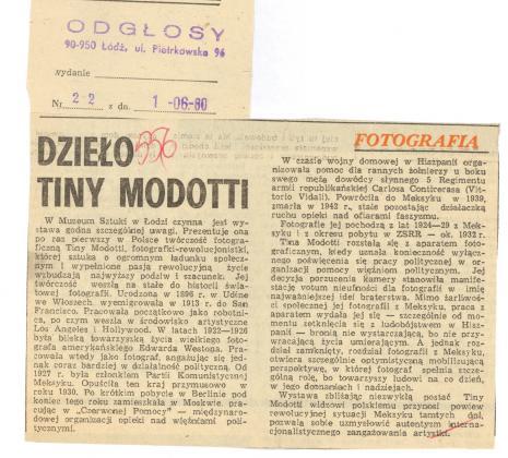Dzieło Tiny Modotti