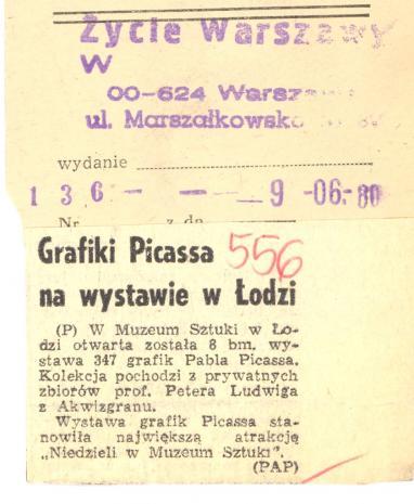 Grafiki Picassa na wystawie w Łodzi