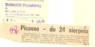 Picasso - do 24 sierpnia