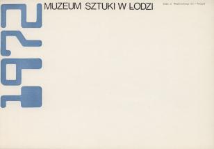 [Druk promocyjny]  Muzeum Sztuki w Łodzi 1972 [...]