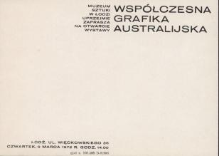 [Zaproszenie] Współczesna grafika australijska [...]