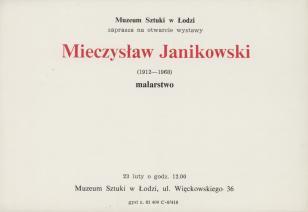 [Zaproszenie] Mieczysław Janikowski (1912-1968) malarstwo [...]