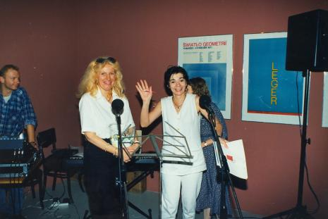 Konkurs towarzystwa Alliance Frances, A. Perlińska (Alliance Frances) i Beata Olga Kowalska (aktorka Teatru Nowego w Łodzi)