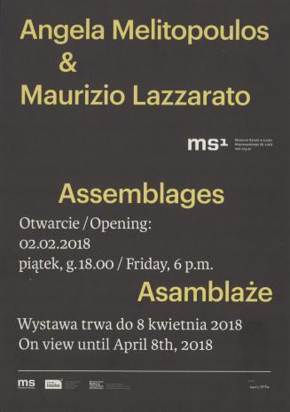 [Zaproszenie] Angela Melitopoulos & Maurizio Lazzaratto. Asamblaże/ Assemblages [...]