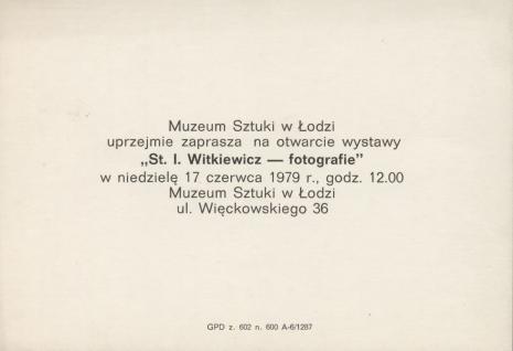 [Zaproszenie] St. I. Witkiewicz - fotografie [...]