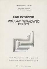[Zaproszenie] Linie rytmiczne. Wacław Szpakowski 1883-1973.