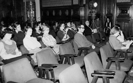 Koncert w sali odczytowej ms po tzw. 'wernisażu studenckim'
