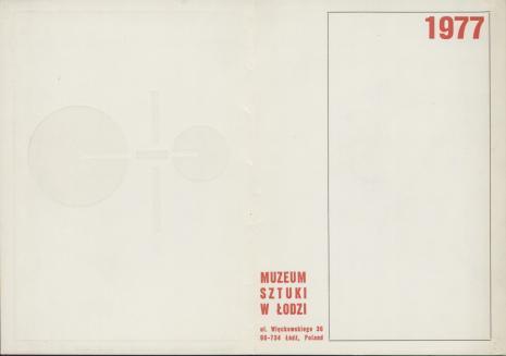 [Druk promocyjny] Muzeum Sztuki w Łodzi 1977. Władysław Szczuka, Typography of