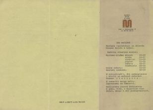 [Informator/Folder] Jan Matejko wystawa reprodukcji ze zbiorów Muzeum Sztuki w Łodzi