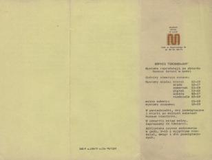 [Informator/Folder] Sophie Teauber-Arp wystawa reprodukcji ze zbiorów Muzeum Sztuki w Łodzi