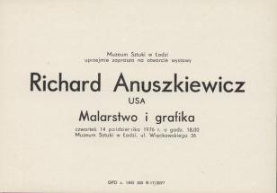 [Zaproszenie] Richard Anuszkiewicz [...] Malarstwo i grafika [...]