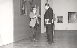 Dyr. Ryszard Stanisławski i Tadeusz Kaczmarek (wiceminister kultury i sztuki)