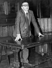 Dyr. Ryszard Stanisławski w sali odczytowej ms