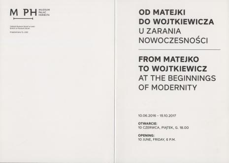 [Zaproszenie] Od Matejki do Wojtkiewicza. U zarania nowoczesności/ From Matejko to Wojtkiewicz. At the beginnings of modernity