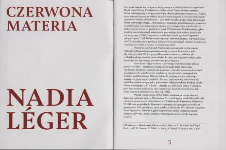 [Informator] Czerwona materia Nadia Leger/ Red matter Nadia Leger