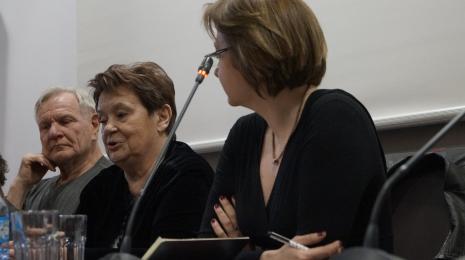 Od lewej Józef Robakowski, Agnieszka Minich, dr Dominika Łarionow (Uniwersytet Łódzki)