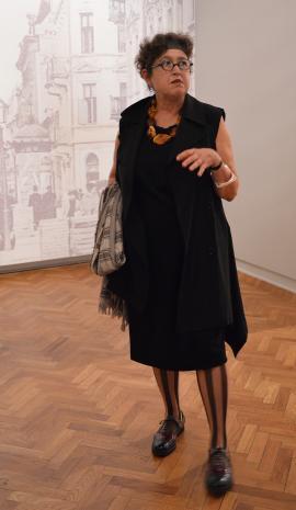Konferencja prasowa. Milada Ślizińska (kuratorka wystawy).