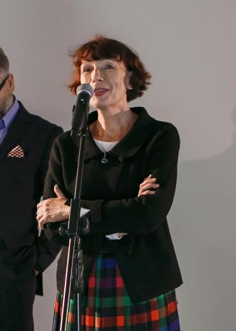 Anna Saciuk-Gąsowska (Dział Sztuki Nowoczesnej, kuratorka wystawy).