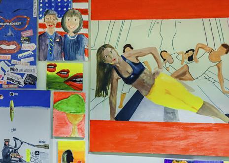 Prace powstałe podczas akcji My Colouring... Wall.