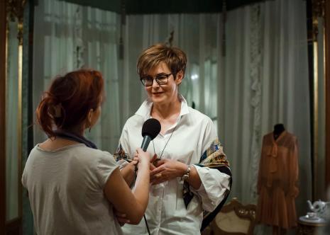 Wernisaż, kuratorska wystawy Magdalena Michalska-Szałacka (kierownik Działu Sztuki Dawnej i Edukacji)