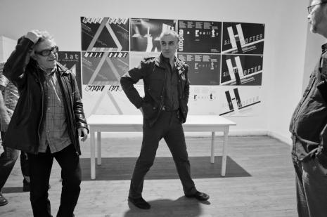 W Galerii Wschodniej, od lewej Adam Klimczak, Sławomir Brzoska, Zbigniew Zieliński.