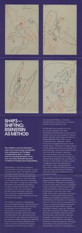 [Ulotka/folder] 5H4P35HIFTING. Shapeshifting: Eisenstein as a method 22.06 - 23.09.2018 [...]