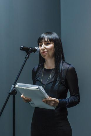 Agnieszka Kurant (przewodnicząca jury).