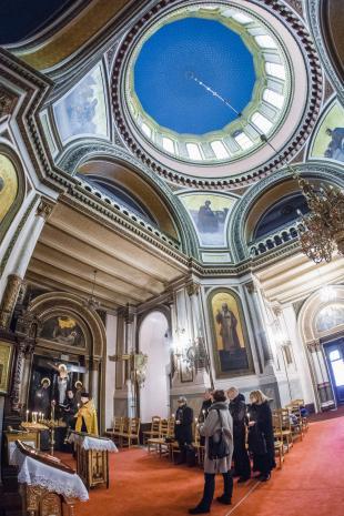 Modły za duszę Katarzyny Kobro w Soborze św. Aleksandra Newskiego w Łodzi.