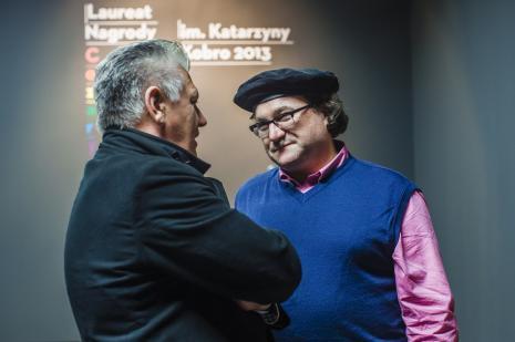 Dariusz Bieńkowski (kolekcjoner dzieł sztuki) w rozmowie z Cezarym Bodzianowskim.