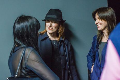 Artystki, od lewej: Agnieszka Kurant (przewodnicząca jury), Monika Chojnacka, Monika Sosnowska.