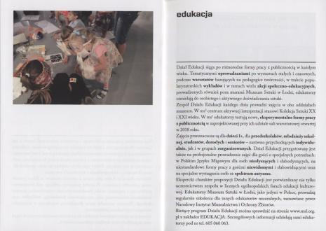 [Informator] MS Muzeum Sztuki. Program czerwiec-grudzień 2018.