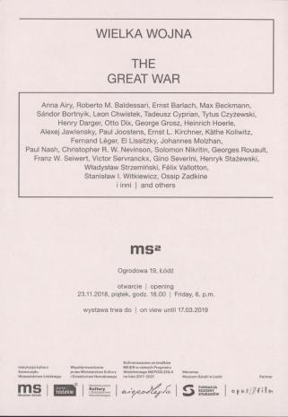 [Zaproszenie] Wielka Wojna/ The Great War [...]