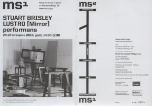 [Ulotka/Folder] Stuart Brisley Lustro [Mirror] performans 25-26 września 2018, godz. 14.30-17.30.