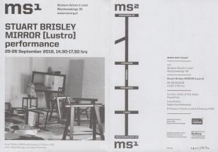 [Ulotka/Folder] Stuart Brisley Mirror [Lustro] performance 25-26 September 2018, 14.30-17.30 hrs.