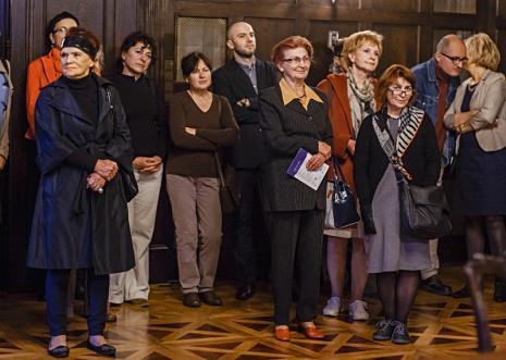 Publiczność na otwarciu wystawy