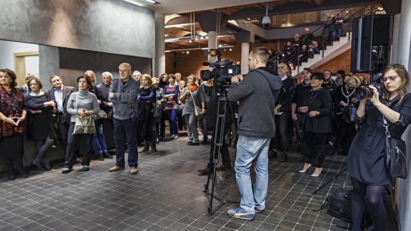 Publiczność na wernisażu. Fot. Anna Taraska-Pietrzak